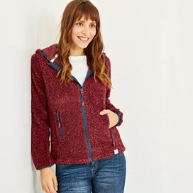Imperial Full Zip Fleece Hoodie Winter Berry Marl