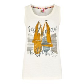 Sailing Graphic Vest Light Cream