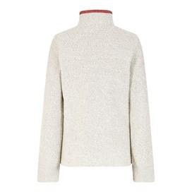 Meg Full Zip Textured Fleece Ecru