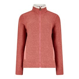 Meg Full Zip Textured Fleece Rhubarb