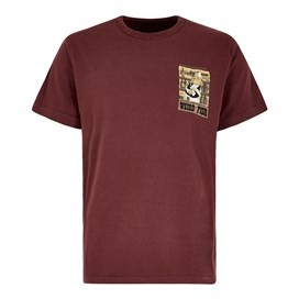 Western Fish Artist T-Shirt Oxblood
