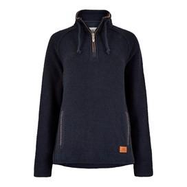 Geranium 1/4 Zip Classic Macaroni Sweatshirt Dark Navy