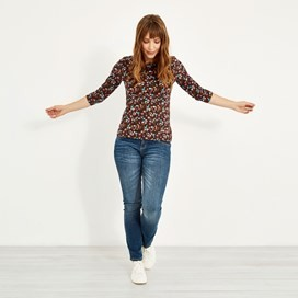 Pinto Printed Jersey T-Shirt Mulled Wine