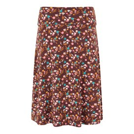 Malmo Printed Jersey Skirt Mulled Wine