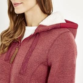 Tova Full Zip Soft Knit Hoodie Rhubarb