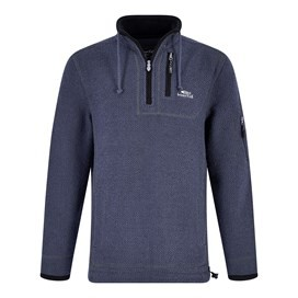 Parkway 1/4 Zip Tech Macaroni  Ensign Blue