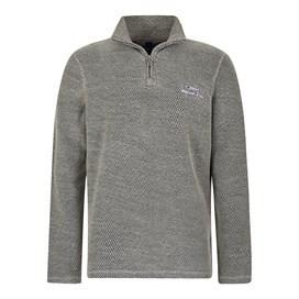 Galvin 1/4 Zip Active Macaroni Sweatshirt Frost Grey