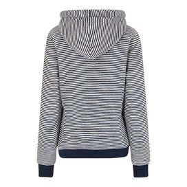 Winona Striped Velour Fleece Hoodie Dark Navy