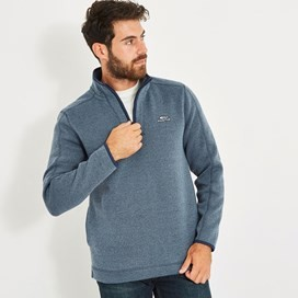 Stowe 1/4 Zip Soft Knit Fleece Black Iris