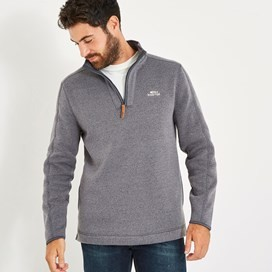 Stowe 1/4 Zip Soft Knit Fleece Grey
