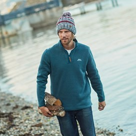 Stowe 1/4 Zip Soft Knit Fleece Dusty Teal