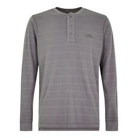 Mara Textured Stripe Henley Tee Grey