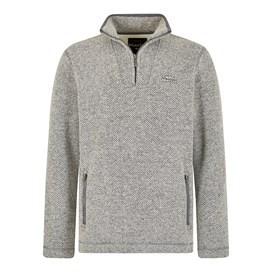 Strabane Knitted Texture Bonded Borg Grey
