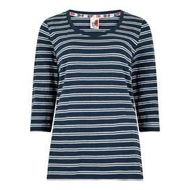 Millen Lurex Breton Stripe Tee Dark Navy
