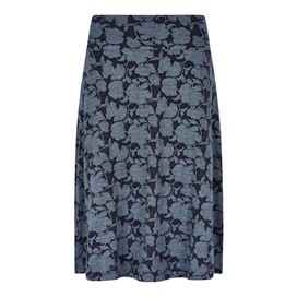 Bloom Jacquard Skirt Dark Navy