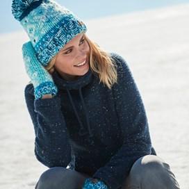 Roskilde Funnel Neck Knitted Fleece Dark Navy