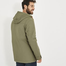 Taggan Hooded Wadded Parka Jacket Bracken