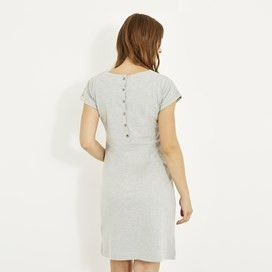 Talia Plain Jersey Dress Grey Marl