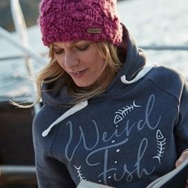 Anya Branded Popover Hoody Dark Navy