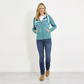 Corinne Branded Zip Through Hoody Viridis