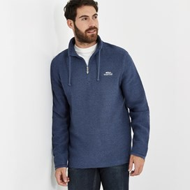 Cruiser 1/4 Zip Classic Macaroni Sweatshirt Ensign Blue