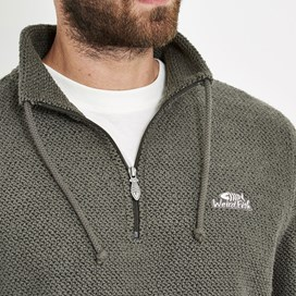 Cruiser 1/4 Zip Classic Macaroni Sweatshirt Charcoal