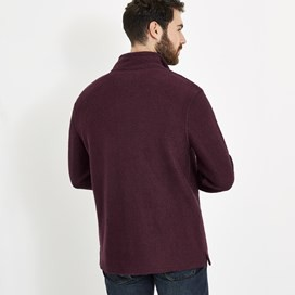 Cruiser 1/4 Zip Classic Macaroni Sweatshirt Mulled Wine