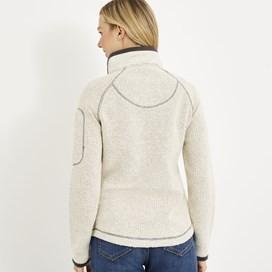 Hilltop Full Zip Macaroni Sweatshirt Ecru