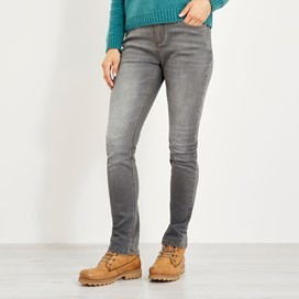 Vixen Straight Leg Denim Jean Grey Wash