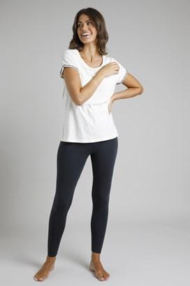 Louisa Stretch Leggings Washed Black