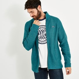 Carna Sierra Knit Zip Through Sea Green