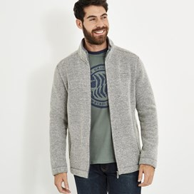 Gilford Knitted Texture Bonded Borg Grey