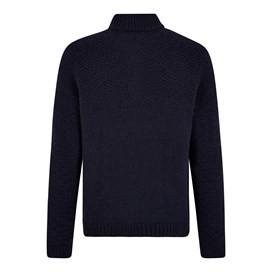 Lyburn Lambswool Blend Knitted 1/4 Zip Jumper Dark Navy