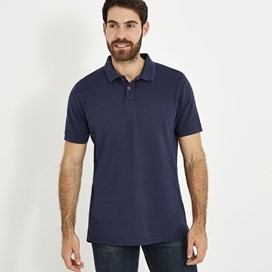 Turiff Organic Cotton Polo Black Iris