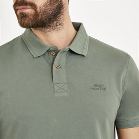 Turiff Organic Cotton Polo Duck Green