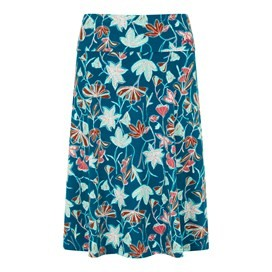 Malmo Printed Jersey Skirt Deep Sea Blue