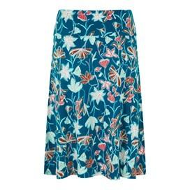 Malmo Printed Jersey Skirt Deep Sea Blue