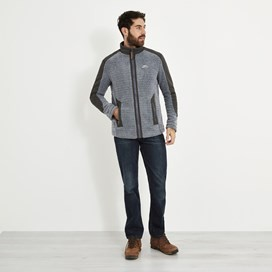 Sekula Full Zip Sherpa Fleece Grey