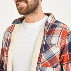 Stoltz Long Sleeve Fleece Lined Shirt Brick Orange