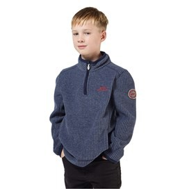 Torey 1/4 Neck Grid Fleece Maritime Blue