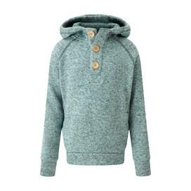 Lanie Melange Soft Knit Hoody Aqua Marine