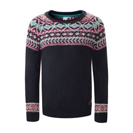 Kitty Fair Isle Jumper Dark Navy