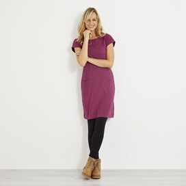Talia Plain Jersey Dress Boysenberry Marl