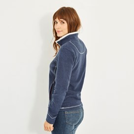 Chrystal 1/4 Zip Stripe Fleece Dark Navy