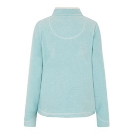 Chrystal 1/4 Zip Stripe Fleece Icy Blue