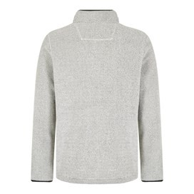 Portrush 1/4 Neck Textured Fleece Ecru