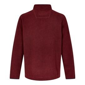 Portrush 1/4 Neck Textured Fleece Oxblood