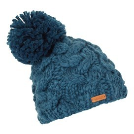 Aysha Cable Knit Bobble Hat Deep Sea Blue