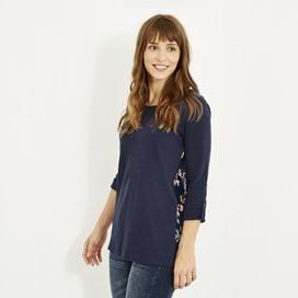 Jamila Printed Jersey T-Shirt Dark Navy