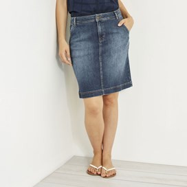 Ria Denim Skirt Dark Denim